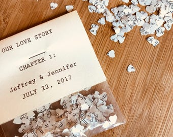 Upcycled Book Pages Wedding Confetti Personalized