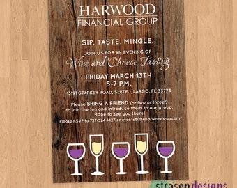 Wine and Cheese Tasting Event Invitation Printable