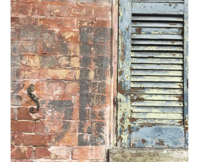 New Orleans Style Shuttered Wall Photograph