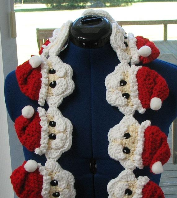 Crochet Pattern Santa Head Scarf Crochet Pattern Santa