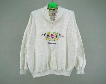 Edmonton Sweatshirt Men Size S 90s Edmonton Vintage Pullover Made in Canada