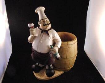 Chef/Cook wine bottle holder