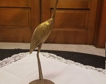 Brass Crane or stork  Figurine