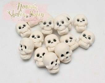 15x Skull Edible Cake Cupcake Toppers