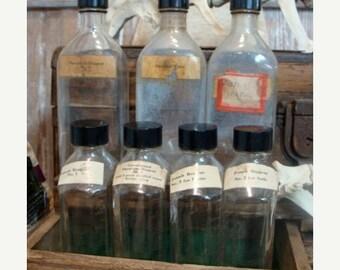 ONSALE One Antique Medical Large Specimen Embossed Glass Bottle