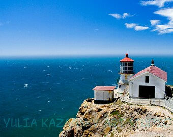 Instant digital download Lighthouse at Point Reyes California photography print Pacific Ocean West coast photo