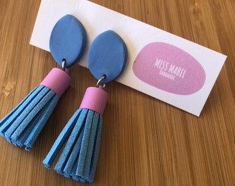 Tassel colour pop dangle earrings