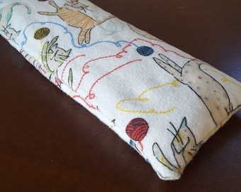 Kitty Kick Pillow Catnip and Buckwheat Hull Filled Pillow Cat Toy