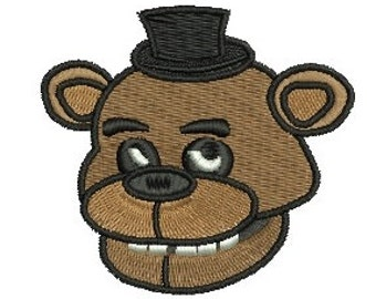 Face Five Nights at Freddy's freddy fazbear EMBROIDERY Design Fill Design Machine Embroidery Instant Download ER601
