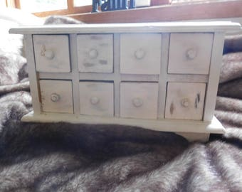 Handmade 8 Drawer Apothacary Cabinet