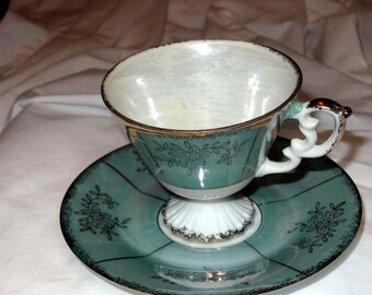 Tea Cup with Saucer Silver Company National Nasco China Japan Home and Garden Kitchen and Dining Tableware Drinkware Coffee and Tea Cups