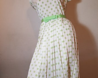 FREE  SHIPPING  1950 Nylon Full Skirt Dress