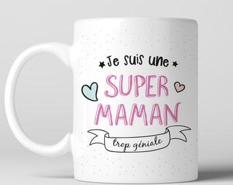 """Mug """"I'm a super cool MOM '-print front/back"""