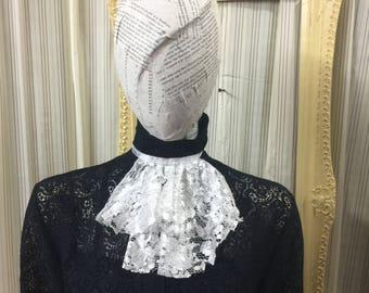 Victorian lace collar Jabot drape Elegant Gothic Lolita  Steampunk Cream white cosplay Geechlark 5078