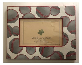 Brand New Baseball Card Themed Picture Frame 3x5 or 4x6 (Paper Frame)