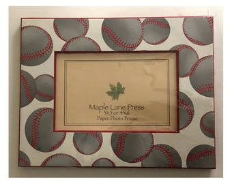 Brand New Baseball Themed Picture Frame 3x5 or 4x6 (Paper Frame)