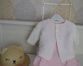 Babies handknitted cardigan