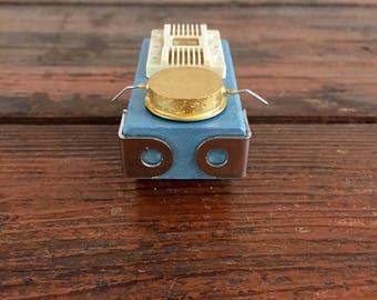 Buggy Beetlebot / Tiny Robot Sculpture / Found Object Art / Assemblage Art / Recycled Robot / Handmade