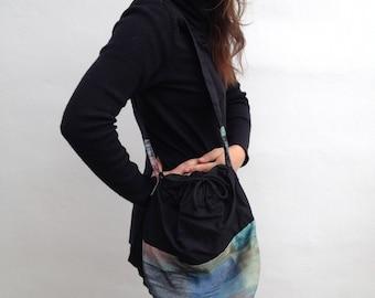 Handmade sack bag black and colors / Borsa handmade a sacco nero e colori
