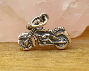 Sterling Silver Motorcycle Charm, Chopper, Daryl Dixon Motorcycle Charm,  The Walking Dead Charm, TWD, Cycle Charm, Harley Davidson Charm