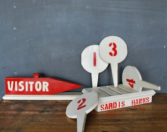 Hand Painted Field Possession Signs Folk Art Strange Unique Hand Made Mid Century Modern Minimal
