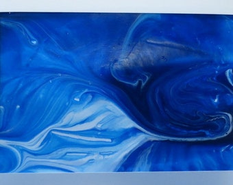 Elegant Greeting Card 5x7 With Original Acrylic Painting - One of a Kind - Blank - Any Occasion