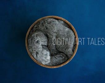 Digital Prop/Backdrop Newborn Navy/Grey Fur Woodland Nest