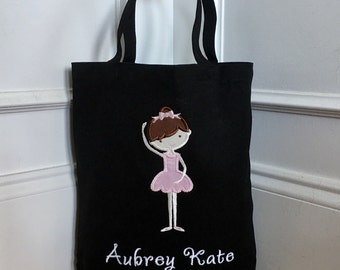 Personalized Dance Bag, Ballerina Dance Bag, Ballet Tote Bag, Personalized Ballet Bag, Dance Tote Bag, Girl's Gift