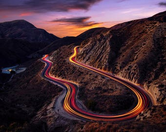 Grimes Canyon California Landscape Photography Print Canyon Road Night Photo Fine Art Wall Art Decor | Also Available on Canvas or Metal