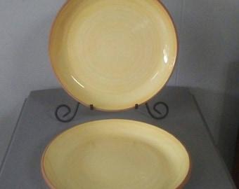 Yellow Dinner Plates, Furio, Vintage Stoneware, Dinner Plates, Yellow Furio, Vintage Dinner Plates, Yellow Dishes, Yellow Dinnerware, Italy