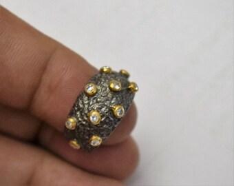 white topaz sterling silver ring