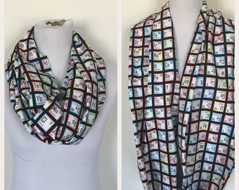Periodic table scarf