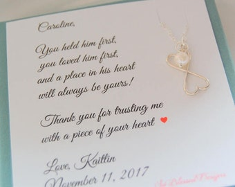 Mother of the Groom gift from Bride, mother in law, mother of the bride gift, mother daughter necklace, wedding gift