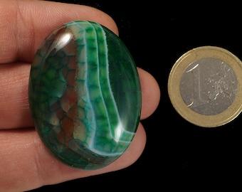 Green Dragon Veins Agate cabochon stone EA575