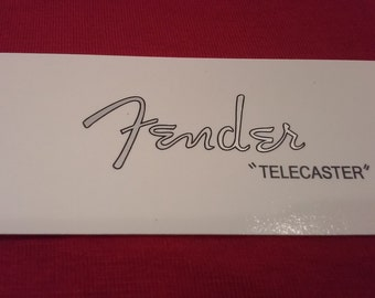 Metallic Silver Fender Telecaster Custom WaterSlide Decal