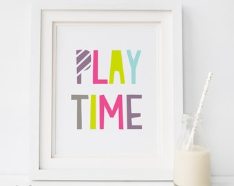 PLAY TIME PRINT, Playroom wall art print, kids room decor,nursery print,  Scandinavian print, nursery wall art decor,  affiche scandinave 3