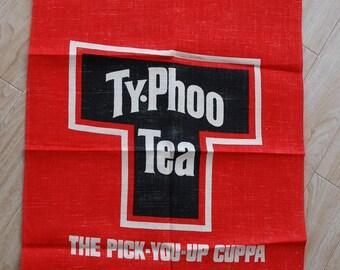 Vintage Typhoo Tea Tea towel New Old Stock Unused