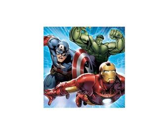 Marvel Avengers Beverage Paper Napkins, Super Hero, Tableware, Party Supplies