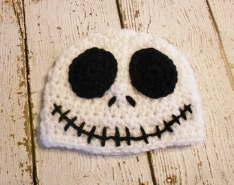 Crochet Skeleton Beanie-Halloween Hat-Photo Prop-Newborn to Adult