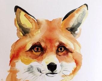 Fox 2 Watercolor PRINT