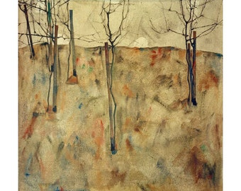 Schiele Bare Trees beautiful art print in choice of sizes