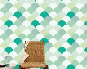Removable wallpaper/Wallpaper/Peel and Stick/Self adhesive wallpaper/Modern Wallpaper /Geometric  patern A09A