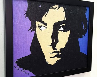 Syd Barrett Crazy Diamond RETRO  - Framed Wall Art Giclee Canvas Mixed Media Paint, Painting, Poster, Print, Artwork,Gift