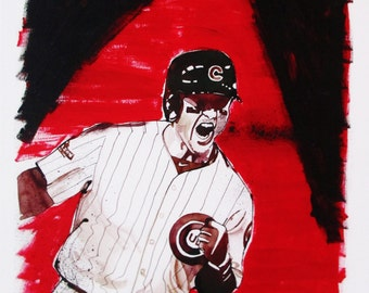 "Anthony Rizzo ""Fierce Spirit"" - Limited Edtion of 100, signed and numbered."