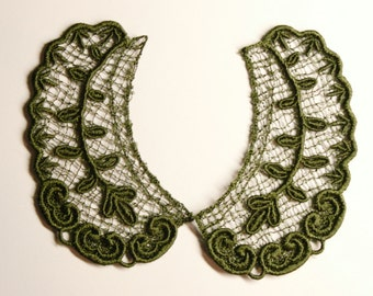 Lace Collar in DARK GREEN for 18 inch dolls such as American Girl #CR18