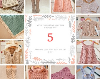 Pattern Package - choose any 5 crochet patterns