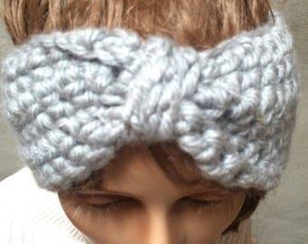 Earwarmer headband, crochet headband, Turban style Headband  Ear Warmer,    Handmade  accessory