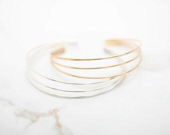 Minimalist Bracelet • Contemporary Bracelet • Gold  Bracelet • Rose Gold Bracelet • Silver Bracelet • Modern Bracelet • Delicate Bracelet