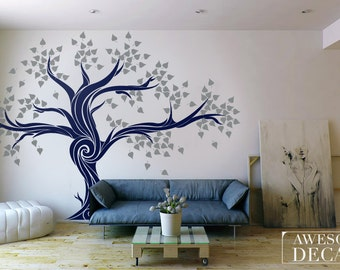 wall decal for living room. Tree wall decal  sticker Removable Wall tree Family Decal Picture Frame Decals Living Room