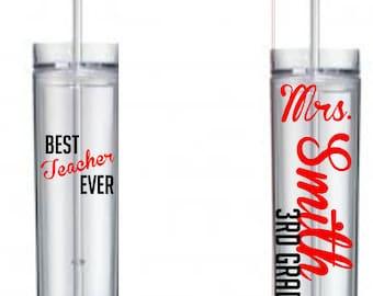 Teacher Skinny Tumbler or Sports Bottle